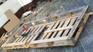 single pallet bed, shell construction, other perspective