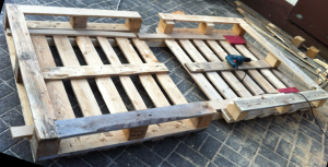 single pallet bed, shell construction
