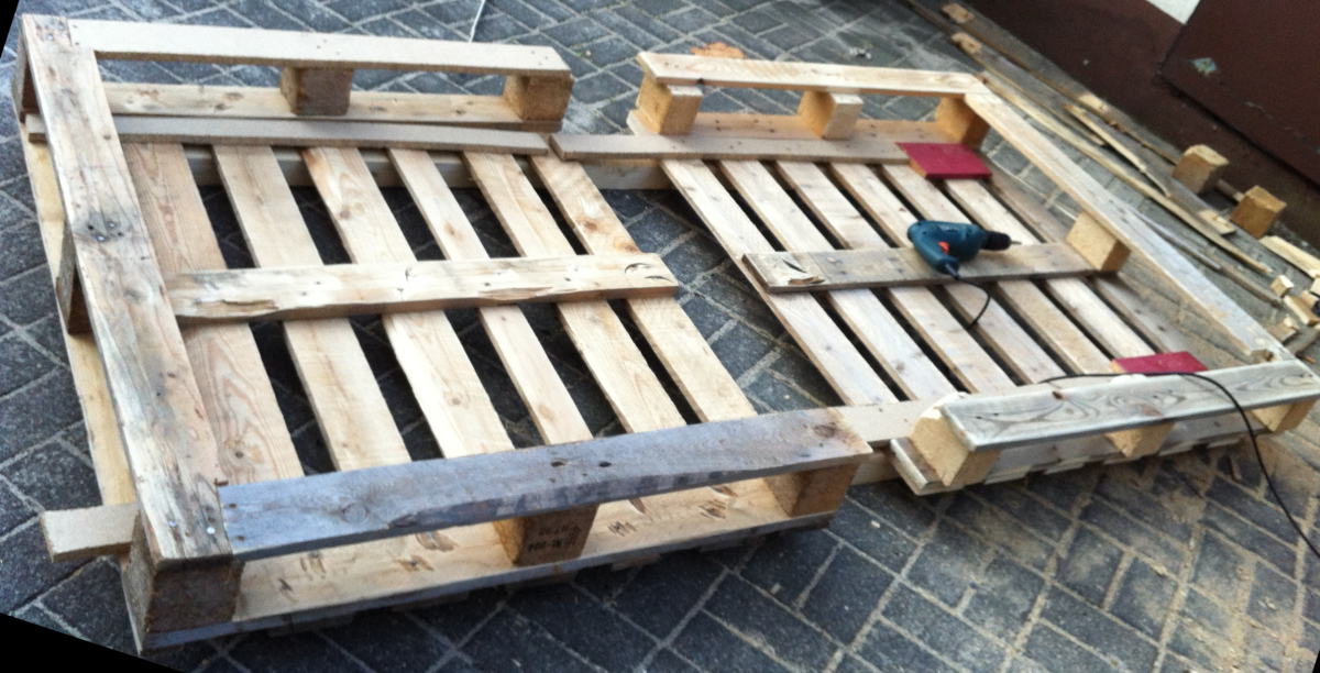 Pallet bed - single bed made from pallets - Pallet ...