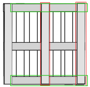 Pallet remodeling scheme for a pallet bed out of two pallets