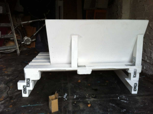 Sofa segment, backrest and lower structure, one of the uglier parts