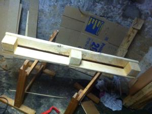 pallet shelf, grinded and polished