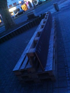 Long pallet bench, rear, Bermuda3eck Bochum