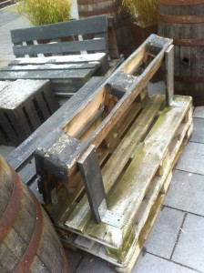 Pallet garden bench in Bochum, rear