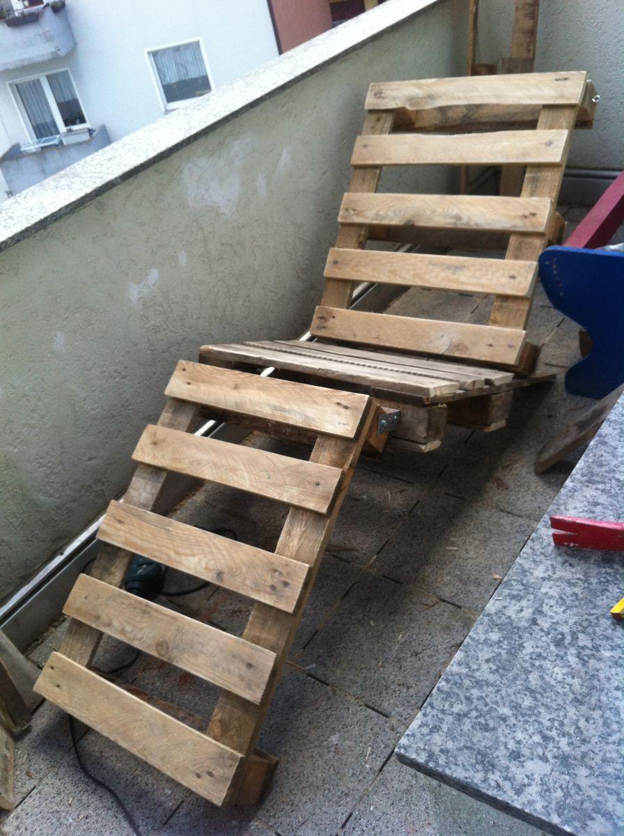 DIY garden furniture: canvas chair - pallet sunbed ...