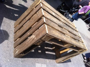 Pallet table: Simple version, euro pallets, untreated