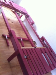 Pallet bed: pallet elements, fully assembled