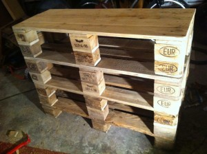 Pallet cabinet, shell, unvarnished