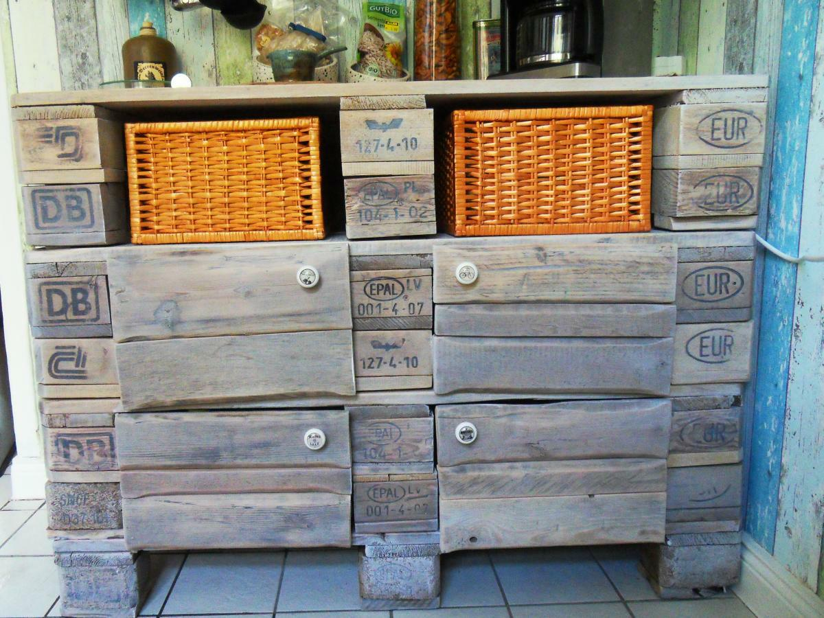 How Much Is A Paint Job >> Euro pallet kitchen cabinet - small cupboard, pallet version - Pallet Furniture : Pallet Furniture