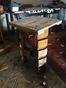 Higher tripod: Pallet side table