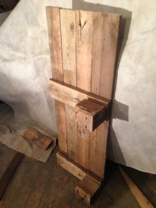 Lantern/Pallet cabinet, walls on two sides