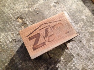 Branding, sanded carefully