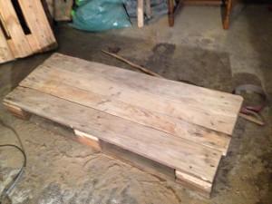 Dresser table surface, rearranged boards