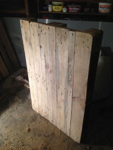 Pallet tabletop, preliminary completed