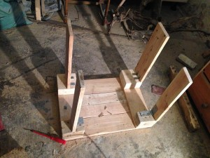 Frame for the cabinet