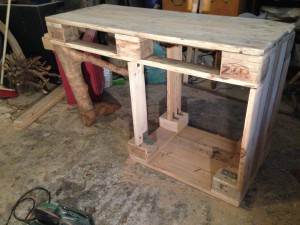 Dresser, partly built - the table surface lays already stable