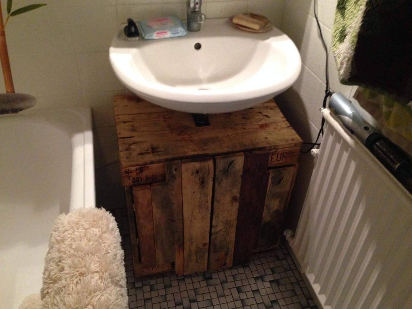 Bathroom Cabinet Cupboard Below Sink From Pallet Timber