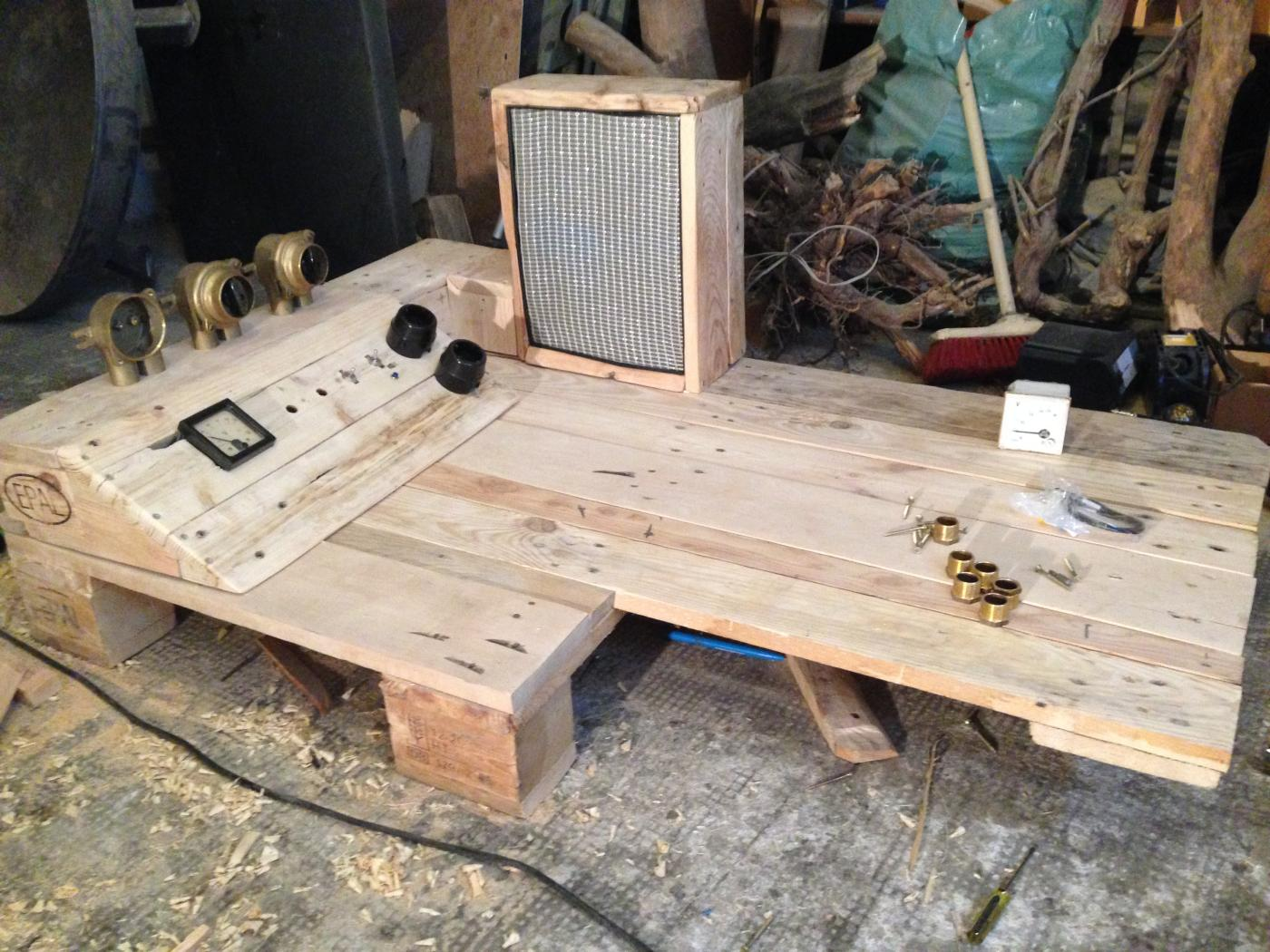 Steampunk Pallet Desk With Server Part 1 Pallet