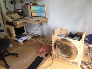 Computer cabinet without tabletop