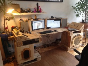 Steampunk desk, structurally complete