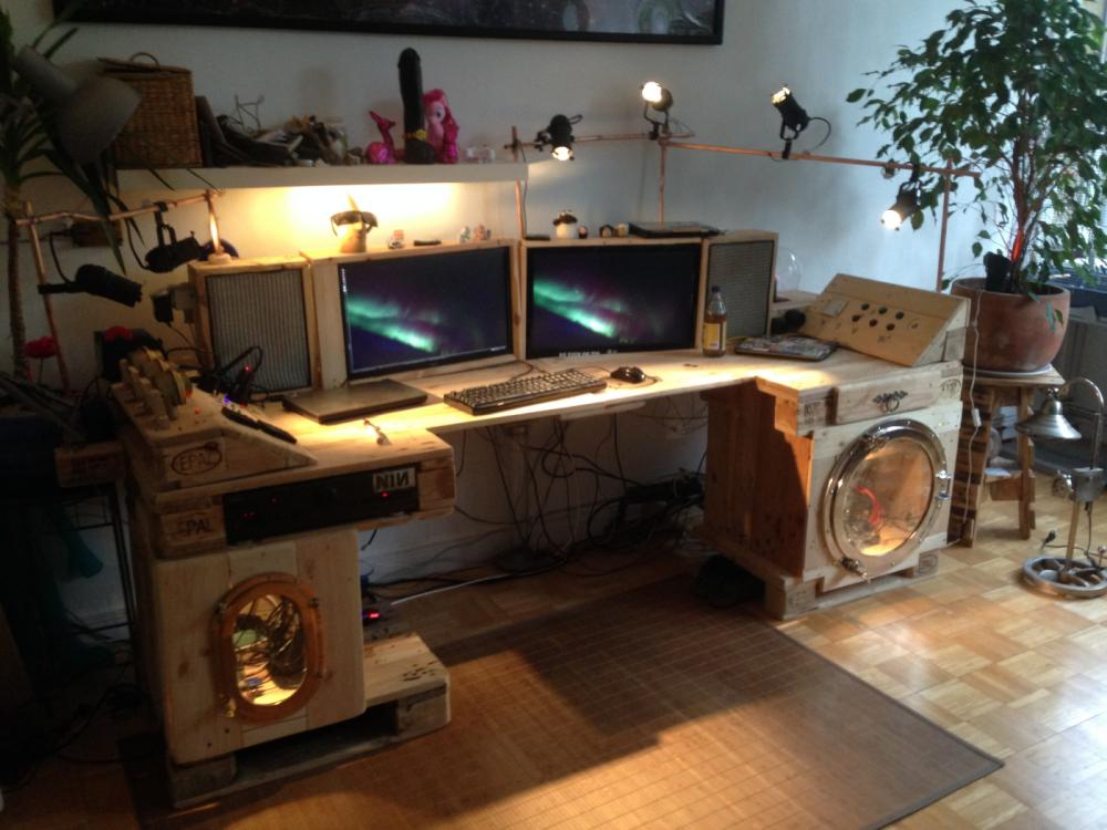Steampunk Desk Made Of Pallets Part 2 Pallet Furniture