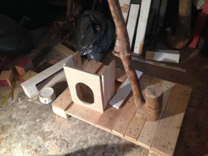 Cat Cottage, ground floor: Construction
