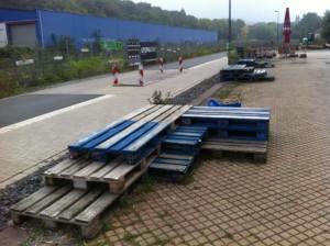 Pallet benchs, Utopiastadt